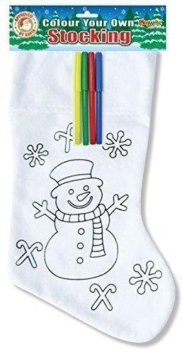 Mu eco de nieve color su propio calcetines navidad fieltro para colorear bol grafos infantil - Calcetines de navidad personalizados ...