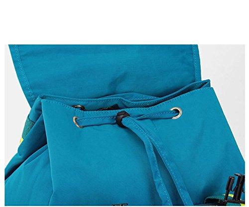 BAAFG Frauen-Reise-Rucksack Casual Nylon Wasserdichte Student Bag Violet