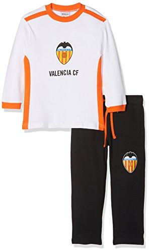 Valencia CF Pijvcf Pijama Larga, Bebé-Niños, Multicolor (Blanco/Naranja), 02
