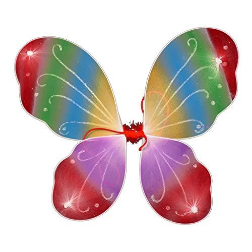 regenbogen-Bunte Schmetterlings-Flügel für Tanzen-Partei kleiden Oben Stadiums-Leistungs-Foto-Stützen 10 Colors-7 an ()