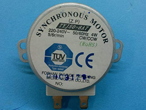 Gorenje Drehteller-Motor TYJ50-8A7 für Mikrowelle 5/6rpm - Teile-Nr.: 104213, auch für AEG-Electrolux, Kenwood, Siemens, Bosch