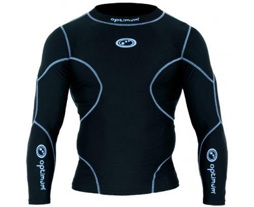 OPTIMUM Thinskin Pro–Shirt Kompressionsshirt Langärmelig, schwarz/blau, mini