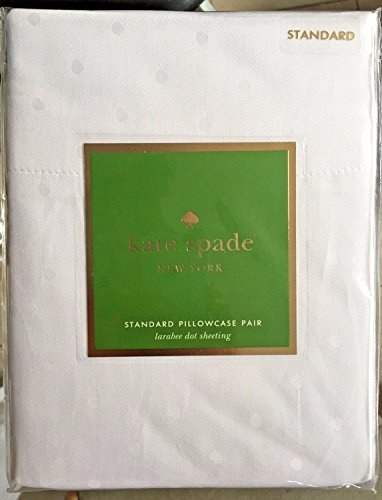 Kate Spade New York New York Standard-Pillowcase Set Weiß Larabee Dot -
