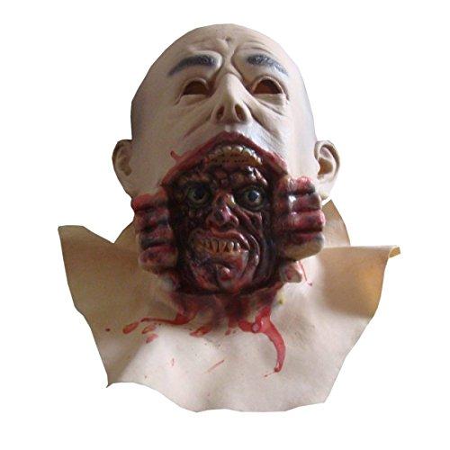 Nihugo Horror Bald Big Devil Bar Party Stützen Kopfbedeckung Cos Teufel '' Boo Zu Ihnen! '' Light Up LED CreepyParty Deluxe Neuheit Tier Kopf,A (Halloween Zu Ihnen Boo)