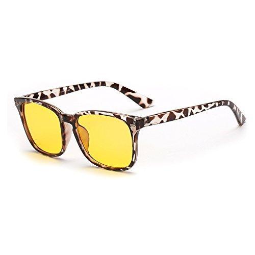 Cyxus blau Licht-Filter UV-Blocker Schutzbrille [Anti Überanstrengung der Augen] Tolles Spiel für Computer/PC/TV/Handy Lesen, Unisex (Herren/Frauen/Junioren), Vintage Fashion Acetat rahmen, CY-GL-0004 (Junioren Auge)