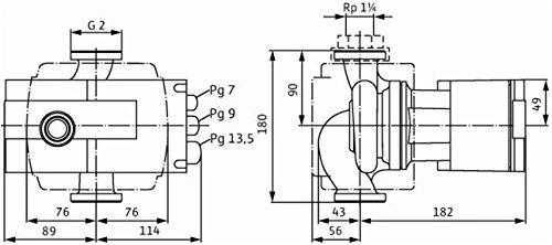 """Preisvergleich Produktbild Wilo Nassläufer-Hocheffizienzpumpe Stratos Verschraubungsanschluss Typ 30 / 1-8,  Rp 1 1 / 4"""",  180 mm 2095496"""