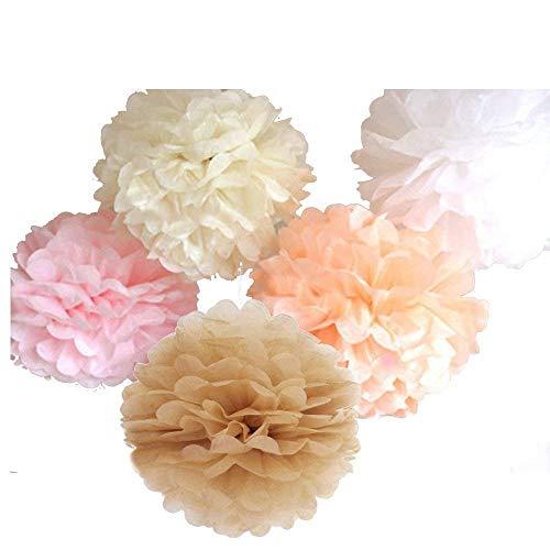 xed 10 '' 12 '' 14 '' Seidenpapier Pom Poms Blume Hochzeit Baby Mädchen Zimmer Kinderzimmer Dekoration ()