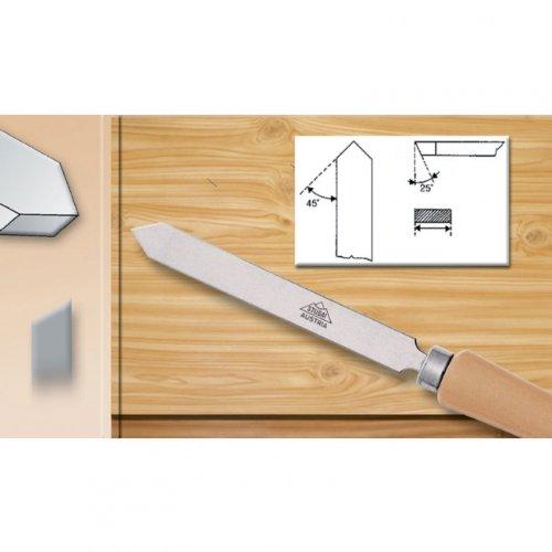 Stubai 363615 Ciseau tourneur pointu avec manche en bois, Argent/beige, 15 mm