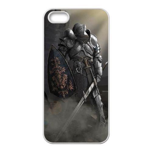 Dark Souls coque iPhone 5 5S Housse Blanc téléphone portable couverture de cas coque EBDXJKNBO15557