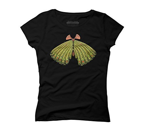 green moth Women's Graphic T-Shirt - Design By Humans Black