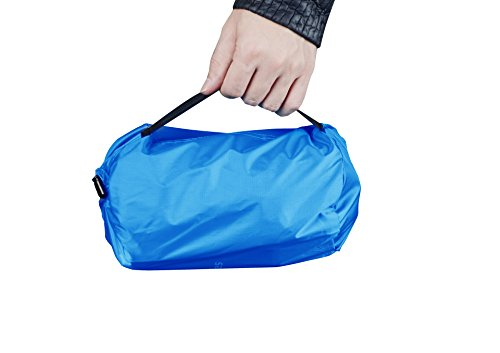 41%2BKK519c6L - iNeibo Ultralight Self Inflating Sleeping Pad with Free Pump Pillow - Inflatable Mat Air Mattress for Backpacking, Camping and Hiking, Easy to Carry and Fast Inflate (Blue)
