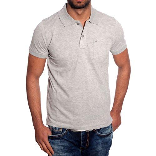 basic poloshirt herren polohemd polo shirt hemd shirt t-shirt männer A6615RN Grau