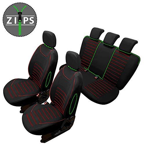 rmg-distribuzione Coprisedili SPECIFICI per Megane Versione (2006-2009 (II)) compatibili con sedili con airbag, bracciolo Laterale, sedili Posteriori sdoppiabili R62S0718