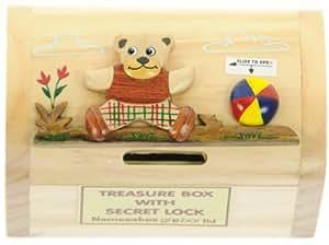 Bear money box for kids novelty wooden piggy bank with for Secret piggy bank