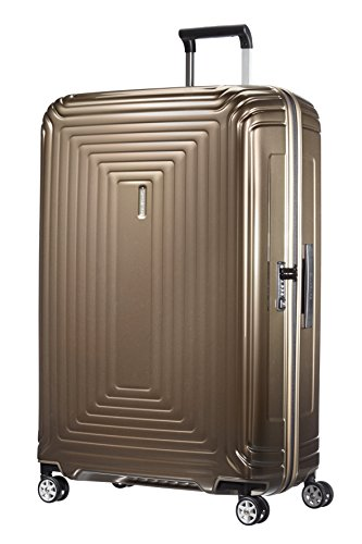 Samsonite Neopulse - Spinner XL Valigia, 81 cm, 124 L, Marrone (Metallic Sand)