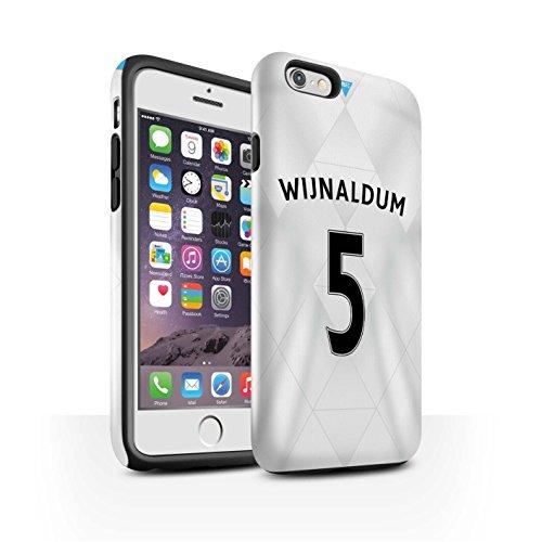 Offiziell Newcastle United FC Hülle / Glanz Harten Stoßfest Case für Apple iPhone 6S / Saivet Muster / NUFC Trikot Away 15/16 Kollektion Wijnaldum