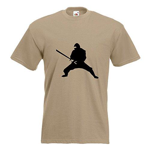 KIWISTAR - Ninja T-Shirt in 15 verschiedenen Farben - Herren Funshirt bedruckt Design Sprüche Spruch Motive Oberteil Baumwolle Print Größe S M L XL XXL Khaki