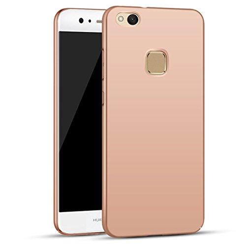 Custodia Huawei P10 Lite, Yoowei® Cover Huawei P10 Lite Alta Qualità Ultra Sottile Piena Protezione PC Shell Duro Retro Custodia per Huawei P10 Lite, Tocco serico - Oro Rosa