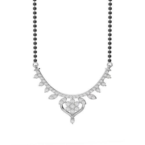 Or blanc/or jaune/Platinum-Collier Femme-diamant mangalsutra dnc-2235-vsgh