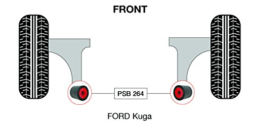 PSB polyuréthane Bush Kuga inférieur avant bras arrière bushing kit (PSB 264) - 08-15