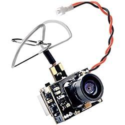 GOTOQOMO GT02 5,8GHz 40 Canales 25/200mW Ajustable Transmisor de Video FPV y Cámara Ultra Micro AIO NTSC 600TVL para FPV Indoor Racing