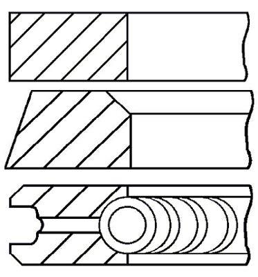 08-433100-00 Payen Piston Rings - Cylindre Unique OE Qualité