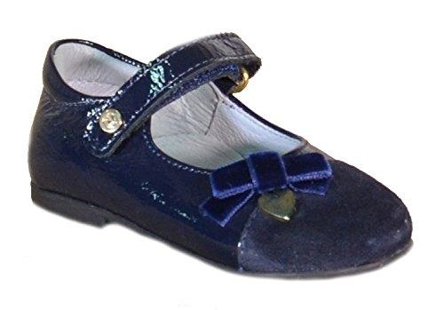 Naturino - Naturino Ballerine Bambina Blu Pelle 4520 - Blu, 21