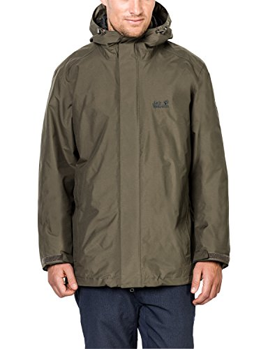 Jack Wolfskin Herren 3-in-1 Jacke Iceland' Granite, Medium -