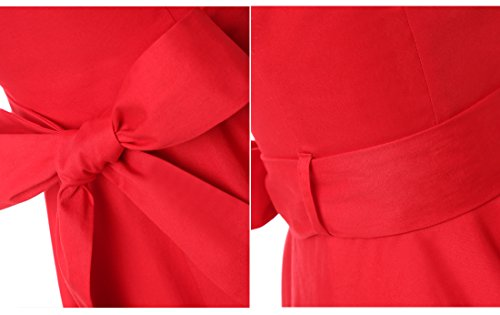Dressystar Robe à 'Audrey Hepburn' Classique Vintage 50's 60's Style à mancheron Noir