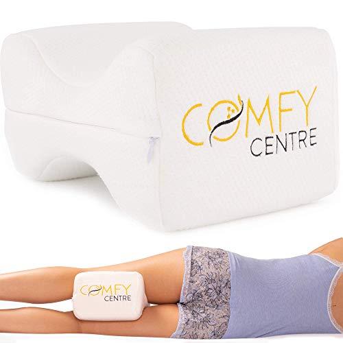 COMFYCENTRE® hochwertiges Kniekissen Für Seitenschläfer - Orthopädisches und Ergonomisches Beinkissen aus Memory Foam - Komfortables Visco Schlafkissen Für Die Beine und Knie
