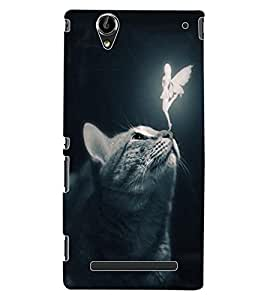ColourCraft Angel and Cat Design Back Case Cover for SONY XPERIA T2 ULTRA