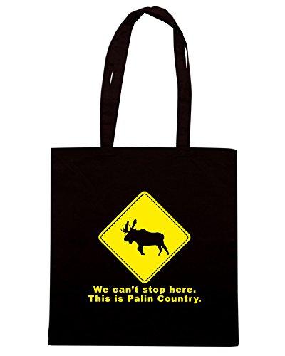 T-Shirtshock - Borsa Shopping TB0049 we can t stop here Nero