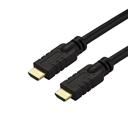 StarTech. com CL2HDMI-Kabel–30ft/10m–Active–High Speed–4K HDMI-Kabel–HDMI 2.0Kabel–in Wand HDMI-Kabel mit Ethernet schwarz (hd2mm10ma) (Schärferes Bild Sound)