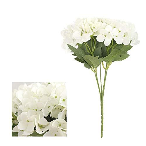 CHIRORO 1 Strauß künstliche Seidenblumen Gefälschte Blumensträuße Unechte Blumen für Blumenarrangement Familie Braut Hochzeit Party Feiertag Dekoration,Weiß (Strauß Seidenblumen)