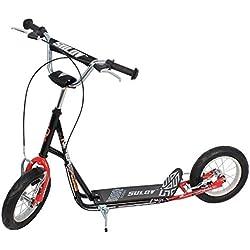 "SULOV Roller Scooter nIPER Course-Noir/Rouge-Taille 12""SCO-nIPER - 03"