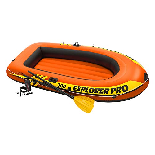 Intex Explorer Pro 300 Set Schlauchboot - 244 x 117 x 36 cm - 3-teilig - Orange -