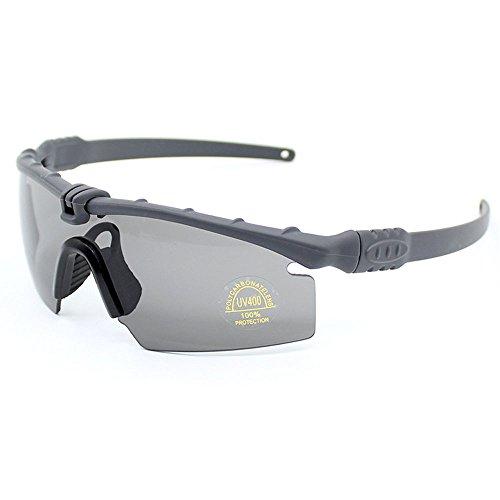 SI M Frame 3.0Polarized Army Sunglasses War Game Ballisti Military Goggles Combat Eye Shield (Grau, Polarisierte 4 Linse)
