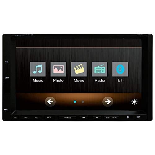 WANGOFUN 7-Zoll-Autoradio FM Bluetooth MP3 MP4-Player mit GPS-Navigation Autoradio Bluetooth FM/AM USB/SD AUX-Fernbedienung inklusive