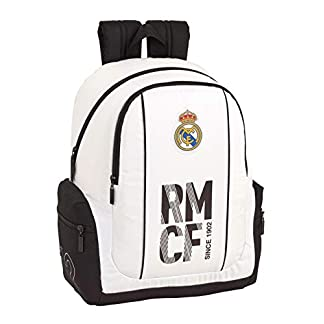 41%2BKWW98BKL. SS324  - Real madrid cf Mochila Grande Adaptable a Carro, niño.