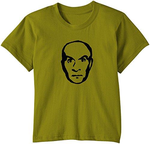 Touchlines - T-Shirt Louis de Funes, T-Shirt unisex bimbi, Verde (green moss), 110/116