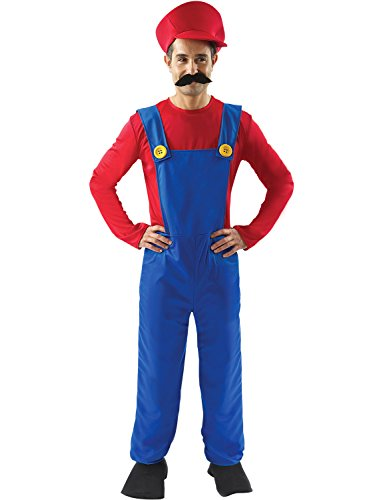 Adult Mens Plumber Fancy Dress Costume Game Workman 80s Halloween Party Outfit by Orion Costumes Standard