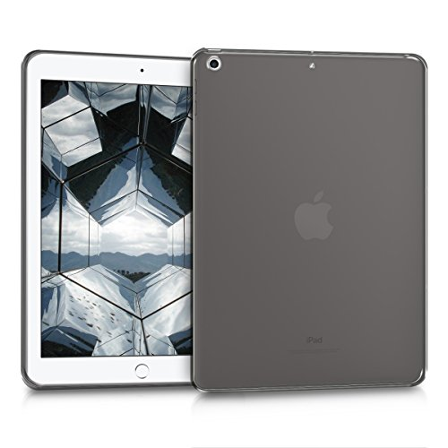 kwmobile Hülle für Apple iPad 9.7 (2017 / 2018) - Case Handy Schutzhülle TPU Silikon für Tablet - Backcover Cover klar Schwarz Transparent (Ipad Case Silikon)