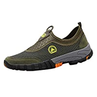 Men Athletic Mesh WalkingShoes, Lightweight and Breathable Slip-on Sneakers Outdoor Mountaineering Sports Shoes by LILICAT