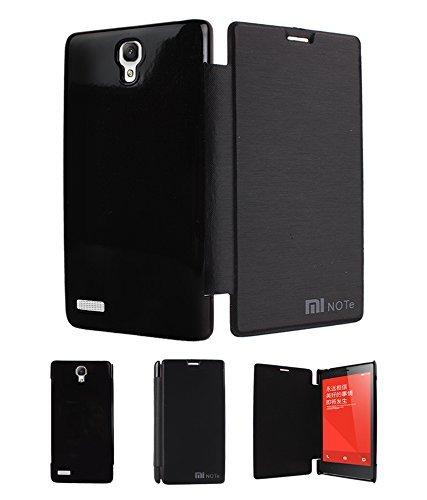 Totelec Premium Leather Diary style Flip cover case for Xiomi Redmi Note 5.5 inch - Black
