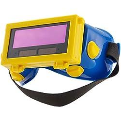 ENJOHOS Lunettes Masque de Soudure LCD Batterie Solaire Auto-obscurcissant/assombrissantes Lunette de Protection des Yeux pour Soudage avec Bande
