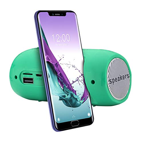 SO-buts BJ-7 Bluetooth Lautsprecher, Tragbare Drahtlose Stereoanlage Lautsprecher, Unterstützungs TF Karte, USB,Mit FM-Funktion, für Smartphone,Tablet PC (Grün)