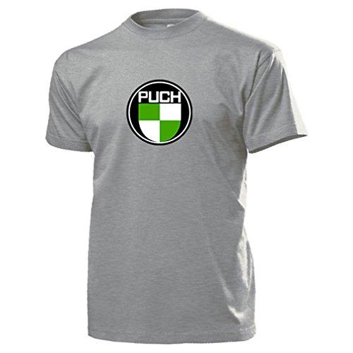 Wappen Puch-Werke Oldtimer Emblem Fan Österreich Fahrrad Motorrad T Shirt #13448, Farbe:Grau, Größe:Herren XXL