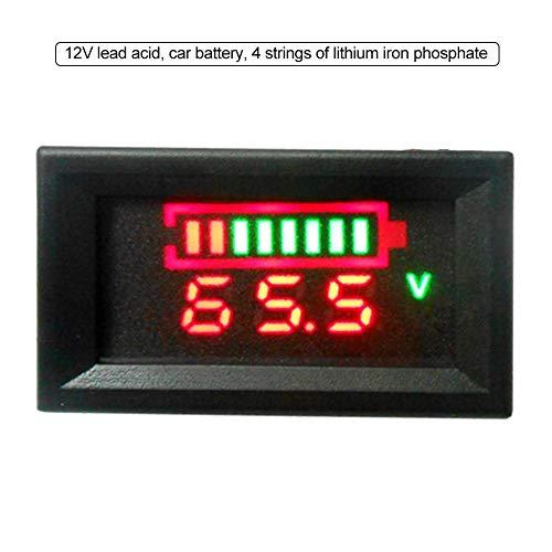 Quiet.T 3 in 1 Auto Akku Monitor Voltmeter, hermometer, Zeit, Batterie Digital Voltmeter Spannung/Uhr/Temperatur Display/DC 12V Auto-120v Usb