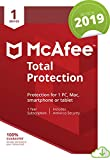Picture Of McAfee Total Protection 2019, 1 Device, 1 Year, PC/Mac/Android/Smartphones [Online Code]
