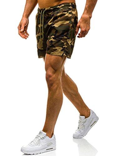 BOLF Herren Shorts Schwimmhose Badehose Badeshorts Military Camo ILSOLE Z512 Braun
